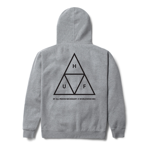 TRIPLE TRIANGLE PULLOVER FLEECE-H.GRAY