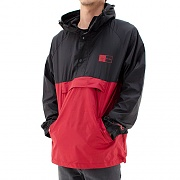 HUF X CHOC PACKABLE ANORAK-BLK/RED
