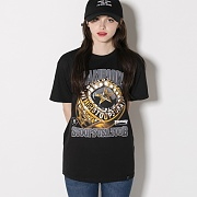 HUF X THRASHER WORLD CHAMPS TEE-BLK