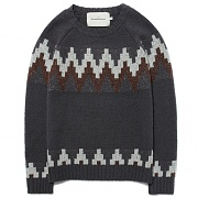 PULSE PATTERN KNIT CREWNECK [GRAY]