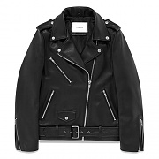 WOMENS LAMB SKIN RIDERS JACKET (GSWL01)-BLACK