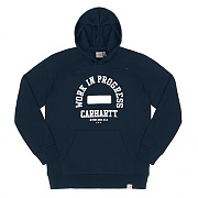 (I020286)WIP HOODED WIP SWEATSHIRT-NAVY