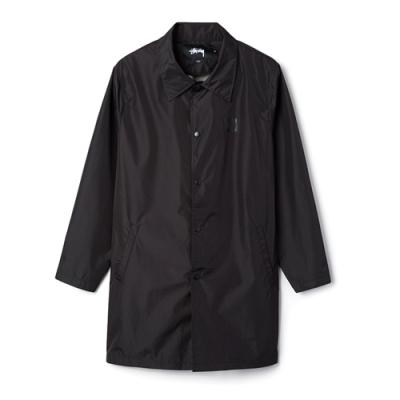 C16 LONG COACH JACKET-BLK