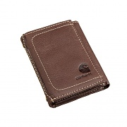 PEBBLE TRIFOLD WALLET-BROWN