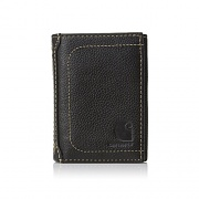 PEBBLE TRIFOLD WALLET-BLACK