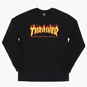 [소량재입고]FLAME LONG SLEEVE TEE-BLK