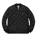 Color Blocked Quilted Jacket - Black