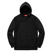 Embroidered Outline Hooded Sweatshirt - Black
