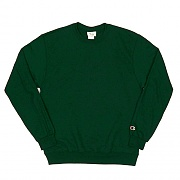 (S600) DOUBLE DRY ECO FLEECE CREW-A.DARK GREEN