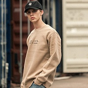TAKE A TIME SWEATSHIRTS-BEIGE