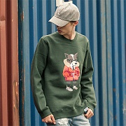 CLASSIC LAYDOG SWEATSHIRTS-HUNTER GREEN