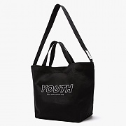 YOUTH ECO SHOULDER&MESSENGER (BLACK)
