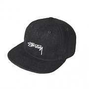 SMOOTH STOCK MELTON WOOL CAP-BLACK