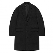FAVJ01-OVERSIZE CHESTERFIELD COAT FA [DARK GREY]