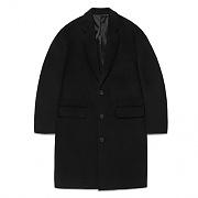 FAVJ01-OVERSIZE CHESTERFIELD COAT FA [BLACK]
