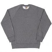 (I015896) CHASE SWEATSHIRT-DARK GREY HEATHER