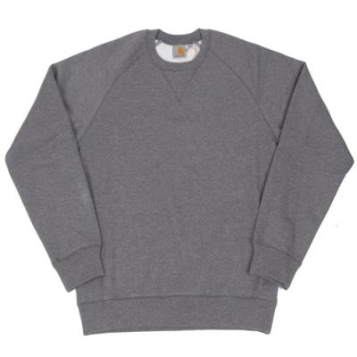(I015896) CHASE SWEATSHIRT-D.GREY HEATHER/GOLD