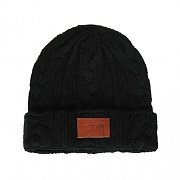 MATTHEW CABLE BEANIE-BLACK