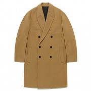 FAVJ08-OVERSIZE DOUBLE CHESTERFIELD COAT FA [BEIGE]