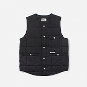 16A/W QUILTED VEST-BLACK