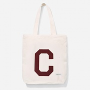 16A/W C LOGO ECO BAG-BURGANDY