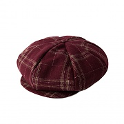 NEWS BOY CAP_BURGUNDY
