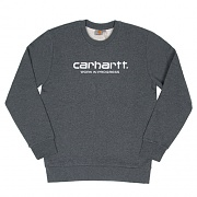 (I021959)WIP SCRIPT SWEATSHIRT-DARK GREY HEATHER