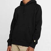 (I015897)HOODED CHASE SWEATSHIRT-BLK