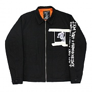 WHATS YOUR NAME COACH JACKET-BLACK