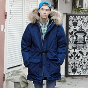 BARENTS GOOSE DOWN PARKA-NAVY