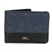 (100310091)GENTRY DENIM BI FOLD WLT DENIM-BLK