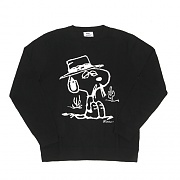 SPIKE JACQUARD SWEATER-BLK