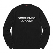 Supreme x UNDERCOVER Generation Fuck You Sweater - Black
