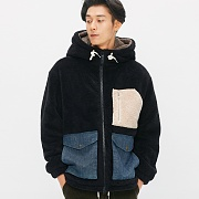 Heavy Fleece Zip-up Parka_Black