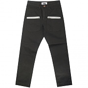 WASHED VINTAGE ZIP FATIGUE PANTS-CHARCOAL
