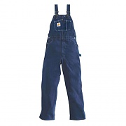 (R07)M WASHED DENIM BIB OVERALLS-DST