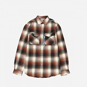 (102218)M TRUMBULL SNAP FRONT PLAID SHIRT-OLV (307)
