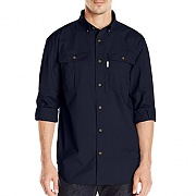 (101554)M FOREMAN SOLID LS WORK SHIRT-NVY (312)