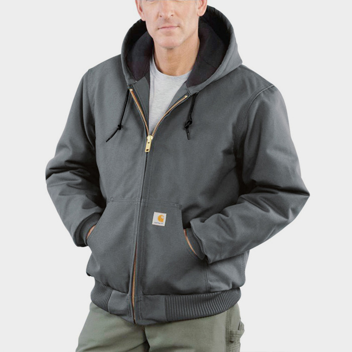 (J140) DUCK ACTIVE JACKET (QUILTED-FLANNEL LINED)-GVL
