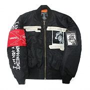 WHATS YOUR NAME MA-1 JACKET - BLACK