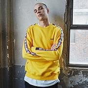 RAGLAN SLOGAN SWEATSHIRTS - YELLOW