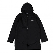 INSULATED LONG HOODED COACH-BLK