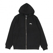 STOCK ZIP HOOD-BLACK