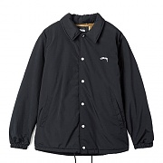 SMOOTH STOCK COACH JACKET-BLACK