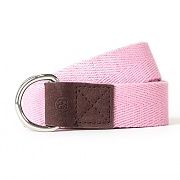 HERRINGBONE D-RING BELT-PINK