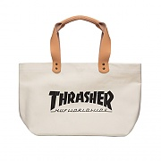 THRASHER CANVAS TOTE-WHT