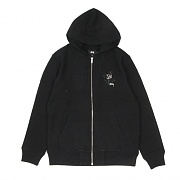 ROSE ZIP HOOD-BLK