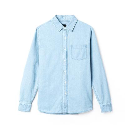 DENIM SHIRT-L.BLU