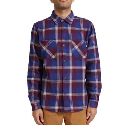 TWILL WEAVE PLAID SHIRT-BLUE