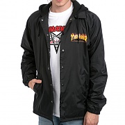 FLAME LOGO COACH JACKET-BLK